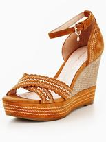Moda In Pelle Roxas Whipstich crossover wedge