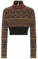 Fendi Cropped wool-blend sweater