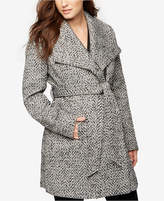A Pea in the Pod Maternity Belted Shawl-Collar Coat