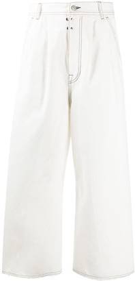 MM6 MAISON MARGIELA Flared Cropped High-Waisted Jeans
