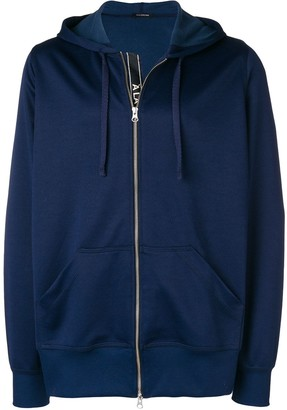 Side Stripe Zipped Hoodie