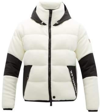 Moncler Hooded Down Fleece Jacket - Mens - White Multi