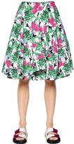 Antonio Marras Floral Printed Cotton Poplin Skirt