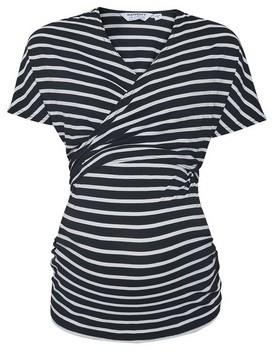 Dorothy Perkins Womens **Maternity Black Stripe Print Nursing Top, Black