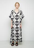 Zero Maria Cornejo Long Printed Sil Dress