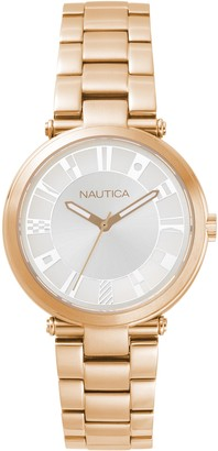 Nautica Women's Analogue Quartz Watch with Stainless Steel Strap NAPFLS006