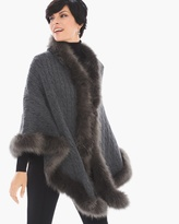 Chico's Nadene Faux-Fur Trimmed Wrap
