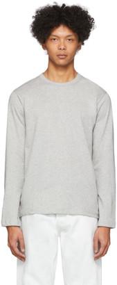 Comme des Garçons Shirt Grey Plain Long Sleeve T-Shirt