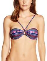 Marie Meili Women's Daria Bandeau Aztec Bikini Top