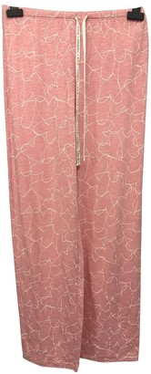 KENDALL + KYLIE Pink Cotton Trousers for Women