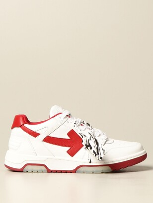 Off-White Off White Sneakers In Smooth Leather With Arrow