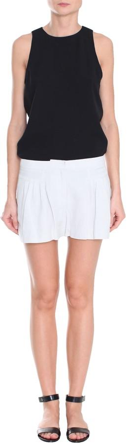 Tibi Linen Viscose Pleated Short
