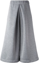 MM6 MAISON MARGIELA wide leg cropped pants - women - Polyester/Polyimide - XS
