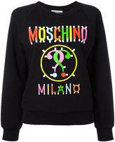 Moschino multicoloured logo sweatshirt - women - Cotton/other fibers - 42