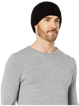 UGG Rib Knit Cuff Hat (Black) Beanies