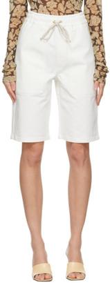 Nanushka White Denim Hadi Shorts