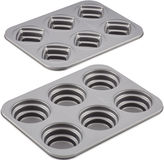 JCPenney CAKE BOSS Cake BossTM 2-pc. Stacked Nonstick Cakelette Pan Set - Round and Square