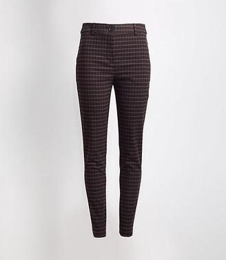 LOFT Plaid High Waist Skinny Ankle Pants in Curvy Fit