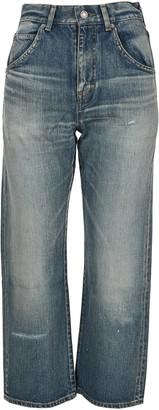 Saint Laurent Cropped High Rise 70s Jeans