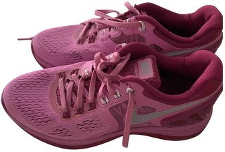 Nike Lunar Force 1 Pink Cloth Trainers
