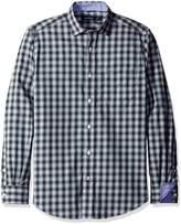 Nautica Men's Long Sleeve Wrinkle Resistant Medium Plaid Shirt