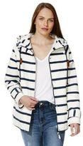 F&F Striped Canvas Shower Resistant Jacket, Women's