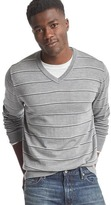 Gap Merino wool stripe V-neck sweater