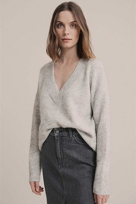 Witchery V Neck Lofty Knit