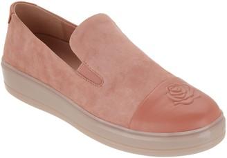 Taryn Rose Suede Cap-Toe Slip-On Shoes - Grace