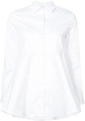Co Poplin Peplum Shirt