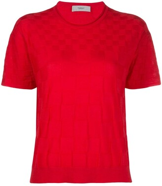 Pringle checkerboard knitted T-shirt