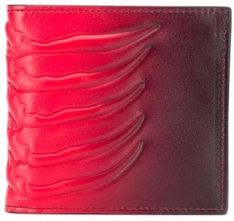 Alexander McQueen Rib Cage gradient wallet