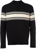 Saint Laurent striped button sweater - men - Wool - L