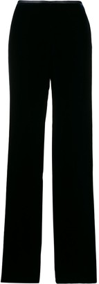 Emporio Armani Velour Wide Leg Trousers