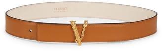 Versace Virtus Buckle Leather Belt