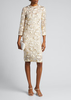 Rachel Comey Haight Floral Metallic Sheath Dress