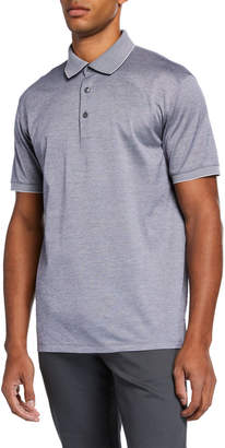 Ermenegildo Zegna Men's Full Button Stand Polo Shirt