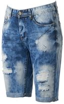 X-Ray Men's XRAY Slim-Fit Distressed Stretch Denim Shorts