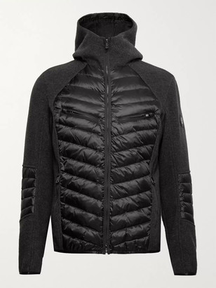 Bogner Amaro-D Panelled Wool-Blend And Quilted Ripstop Down Hooded Ski Jacket