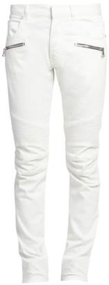 Balmain Slim-FIt Vein Strass Jeans