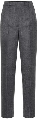 Prada High-rise wool-blend straight pants