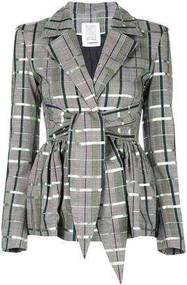 Rosie Assoulin check print blazer