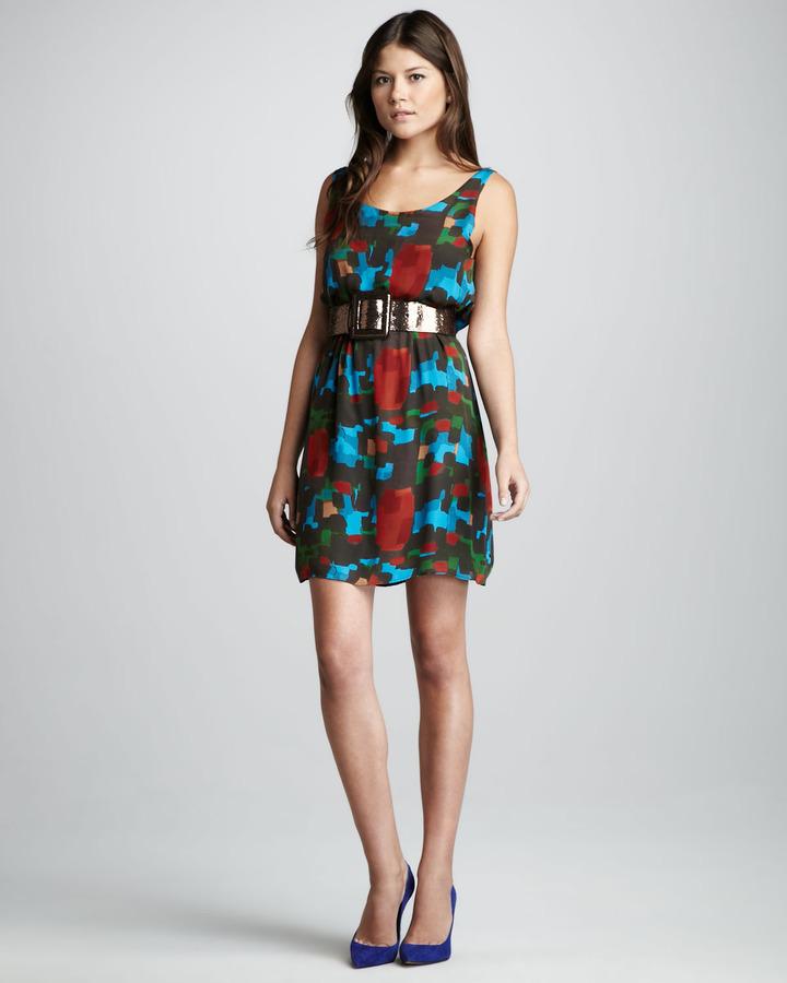 Alice + Olivia Maritza Printed Silk Dress