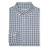 Merona Men's Plaid Button Down Shirt Blue