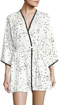 Kate Spade New York Charmeuse Wrap Robe
