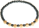 Luis Morais Yellow-gold and hematite bead bracelet