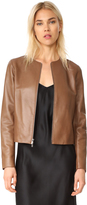 Vince Leather Zip Front Jacket