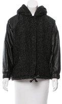 Etoile Isabel Marant Vegan Leather-Paneled Wool Jacket