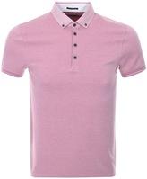 Ted Baker Short Sleeved Branin Polo T Shirt Pink