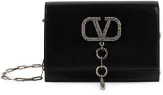 Valentino Small VCase Leather Shoulder Bag